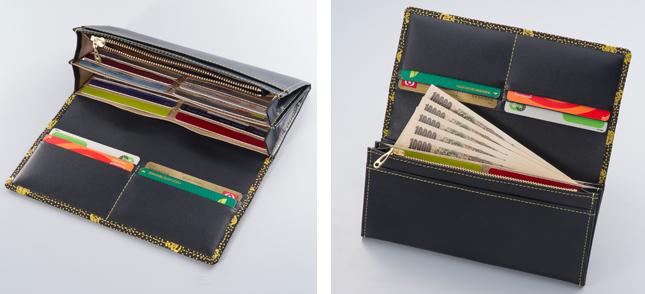 印伝 七福字円萬財布中面 収納力抜群の使いやすいお財布です